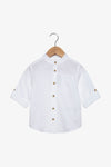 FOX Newborn & Baby Lightweight Mandarin Collar Shirt