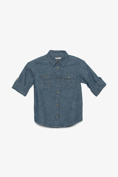 FOX KIDS Boy Denim Button Up Shirt