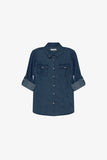 FOX Kid Boy Denim Button Up Shirt