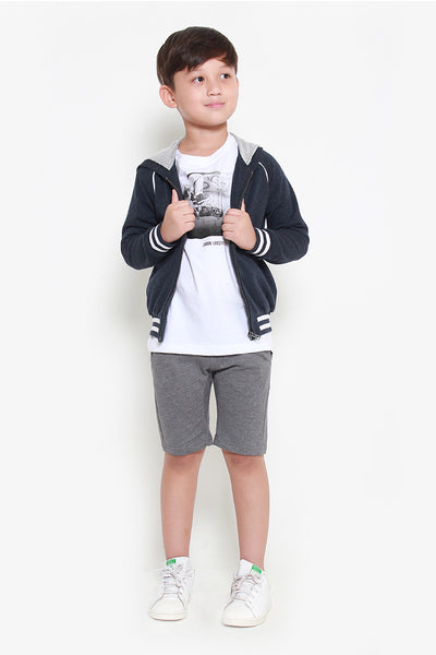 FOX KIDS Boy Athleisure Hooded Jersey Jacket