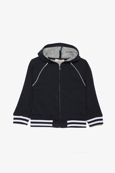 FOX BABY Boy Athleisure Hooded Jersey Jacket