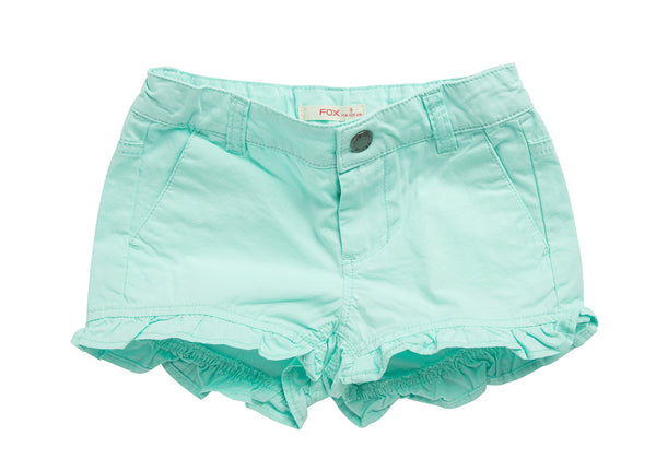 Shorts with Ruffled Hem