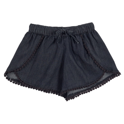 Shorts with Lace Trims