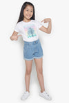 FOX Kid Girl Roll Up Denim Shorts