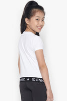 FOX Kid Girl Iconic Holographic Mickey Logo Tee