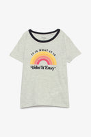 FOX KIDS Girl Slogan Short Sleeve Tee