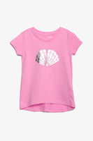 FOX KIDS Girl Printed Tee with Metallic Seashell Print
