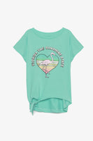 FOX KIDS Girl Printed Tee with Side-Tie Detail