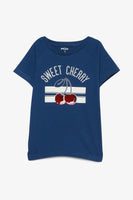 FOX KIDS Girl Reversible Cherry Sequin Tee