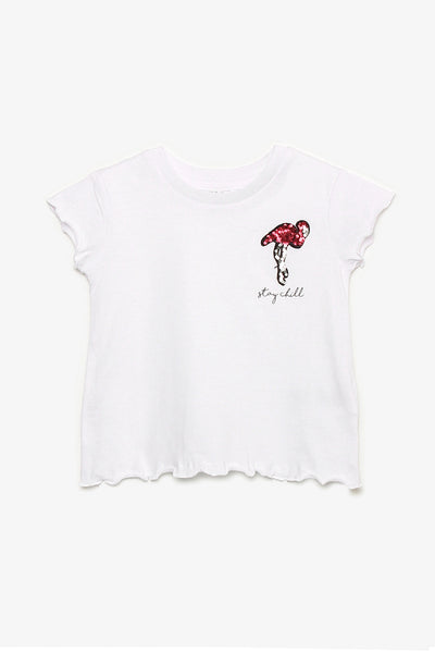 FOX KIDS Girl Tee with Sequin Flamingo