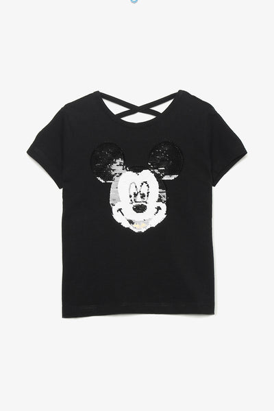 FOX KIDS Girl Mickey Mouse Reversible Sequin Tee