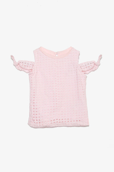 FOX KIDS Girl Cold Shoulder Eyelet Top