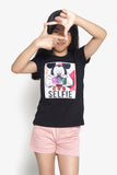 FOX Kid Girl Mickey Mouse Graphic Print Tee