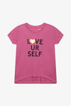 FOX Kid Girl Love Yourself Slogan Tee