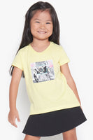 FOX Kid Girl Camera Doodle Graphic Tee