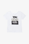 FOX Kid Girl Slogan Graphic Print Tee