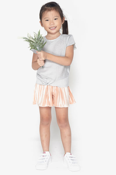 FOX KIDS Girl Glitter Knot Front Tee