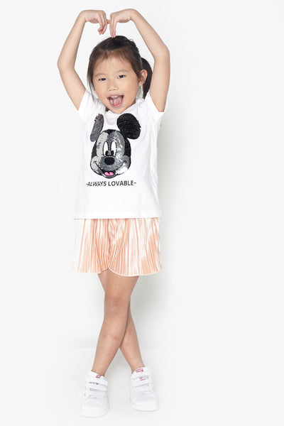 FOX KIDS Girl Mickey Mouse Print Tee