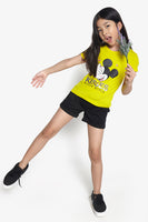 FOX Kid Girl Mickey Mouse Graphic Tee