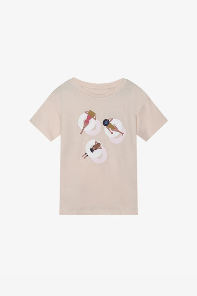 FOX Kid Girl Watercolour Graphic Print Tee