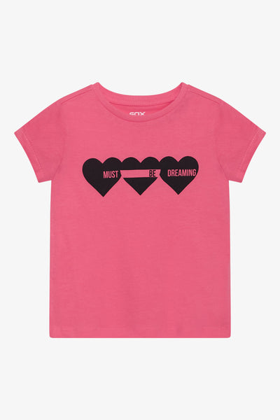 FOX Kid Girl Heart Print Graphic Tee