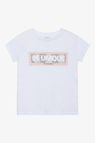 FOX Kid Girl Be Unique Print Graphic Tee