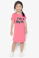 FOX KIDS Girl Slogan Print Jersey Dress