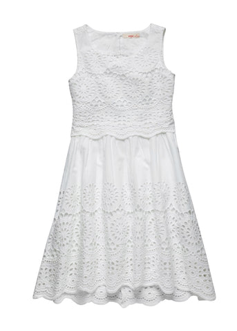 Broderie Anglaise Dress with Back Vent