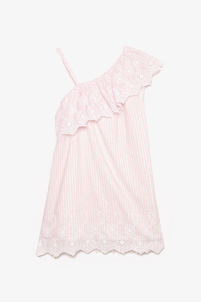 FOX KIDS Girl Toga Dress with Eyelet Detail