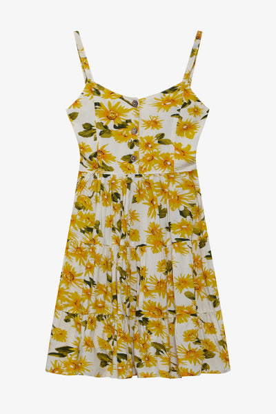 FOX Kid Girl Keyhole-Back Floral Dress