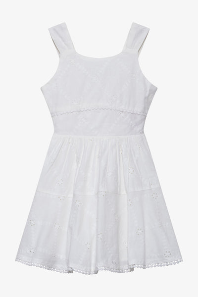 FOX Kid Girl Sleeveless Broderie Anglaise Dress