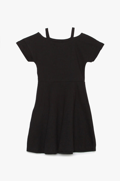 V-neck Cutout Jersey Dress