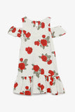 Cold Shoulder Printed Jersey Dress
