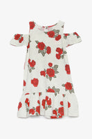 FOX KIDS Girl Cold Shoulder Printed Jersey Dress