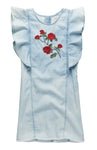 Rose Embroidery Denim Dress