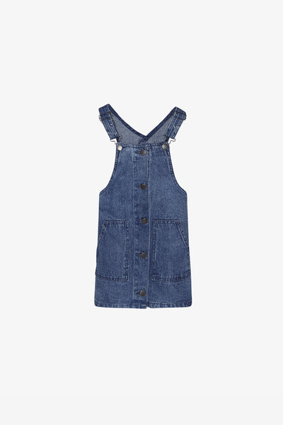 FOX Kid Girl Essential Denim Dungaree Dress