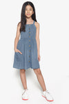 FOX Kid Girl Denim Cross Back Dress