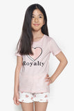 FOX Kid Girl 2-Piece Royalty Pyjama Set