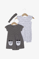FOX Newborn & Baby 3-Piece Baby Girl Panda Set