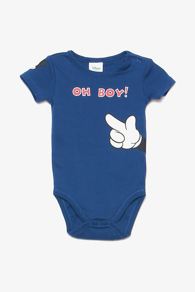 FOX NEWBORN Mickey Mouse Short-Sleeved Bodysuit