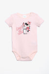 FOX NEWBORN Minnie Mouse Short-Sleeve Bodysuit