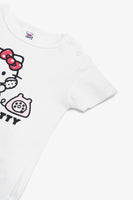 FOX NEWBORN Hello Kitty Short-Sleeve Bodysuit