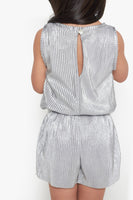 FOX Kid Girl Metallic Pleated Romper