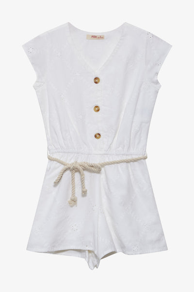 FOX Kid Girl Broderie Anglaise Playsuit