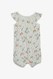 FOX NEWBORN Printed Jersey Romper Suit