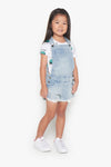 FOX Kid Girl Denim Lace Detail Dungaree