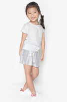 FOX KIDS Girl Satin Pleat Shorts
