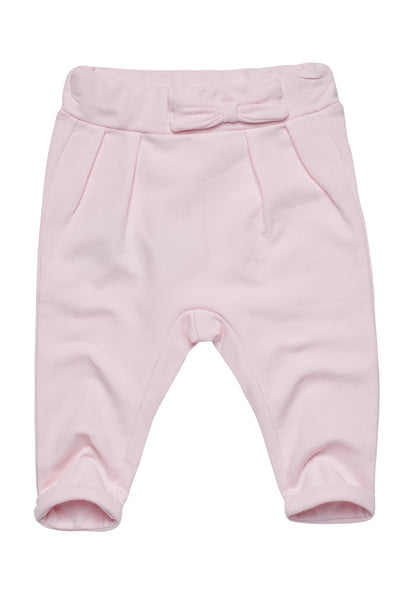 Cotton Blend Pants with Bow details