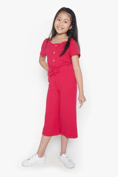 FOX Kid Girl Ribbed Wide Leg Pants