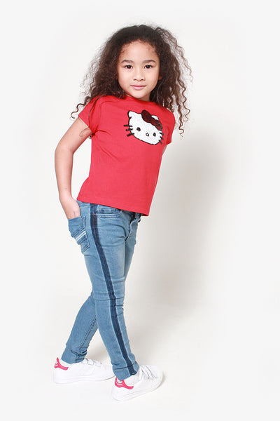FOX KIDS Girl Denim Jeans with Side Stripes